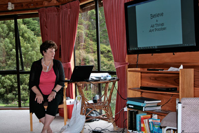 Jasmina Kovalev Teaching at a retreat