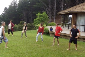 Outdoor exercise on the Retreat